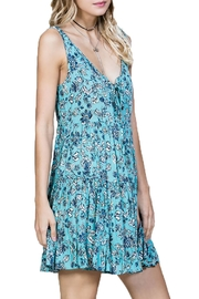 En Creme Sleeveless Floral Dress - Front full body