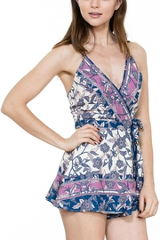 En Creme Sleeveless Floral Romper - Product Mini Image