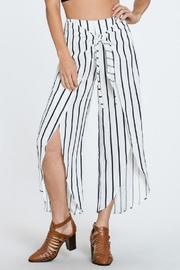 En Creme Stripe Open Pants - Product Mini Image