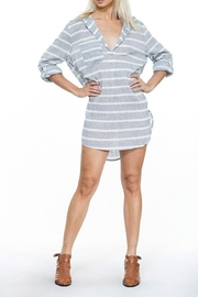 En Creme Stripe Shirt Dress - Product Mini Image