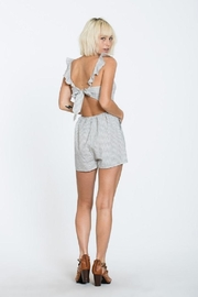 En Creme Stripe Sleeveless Romper - Front full body