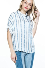 En Creme Striped Button Down - Product Mini Image