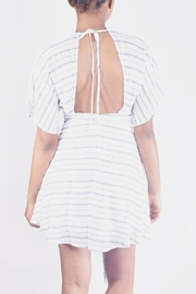 En Creme Striped Kimono Mini-Dress - Side cropped