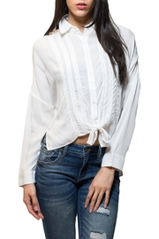 En Creme Tie Front Button Down Top - Product Mini Image