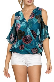 En Creme Velvet Floral Crush Top - Product Mini Image