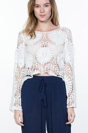 En Creme White Crochet-Lace Top - Product Mini Image