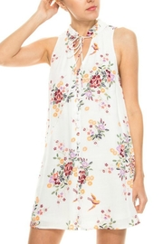 En Creme White Floral Shift-Dress - Other