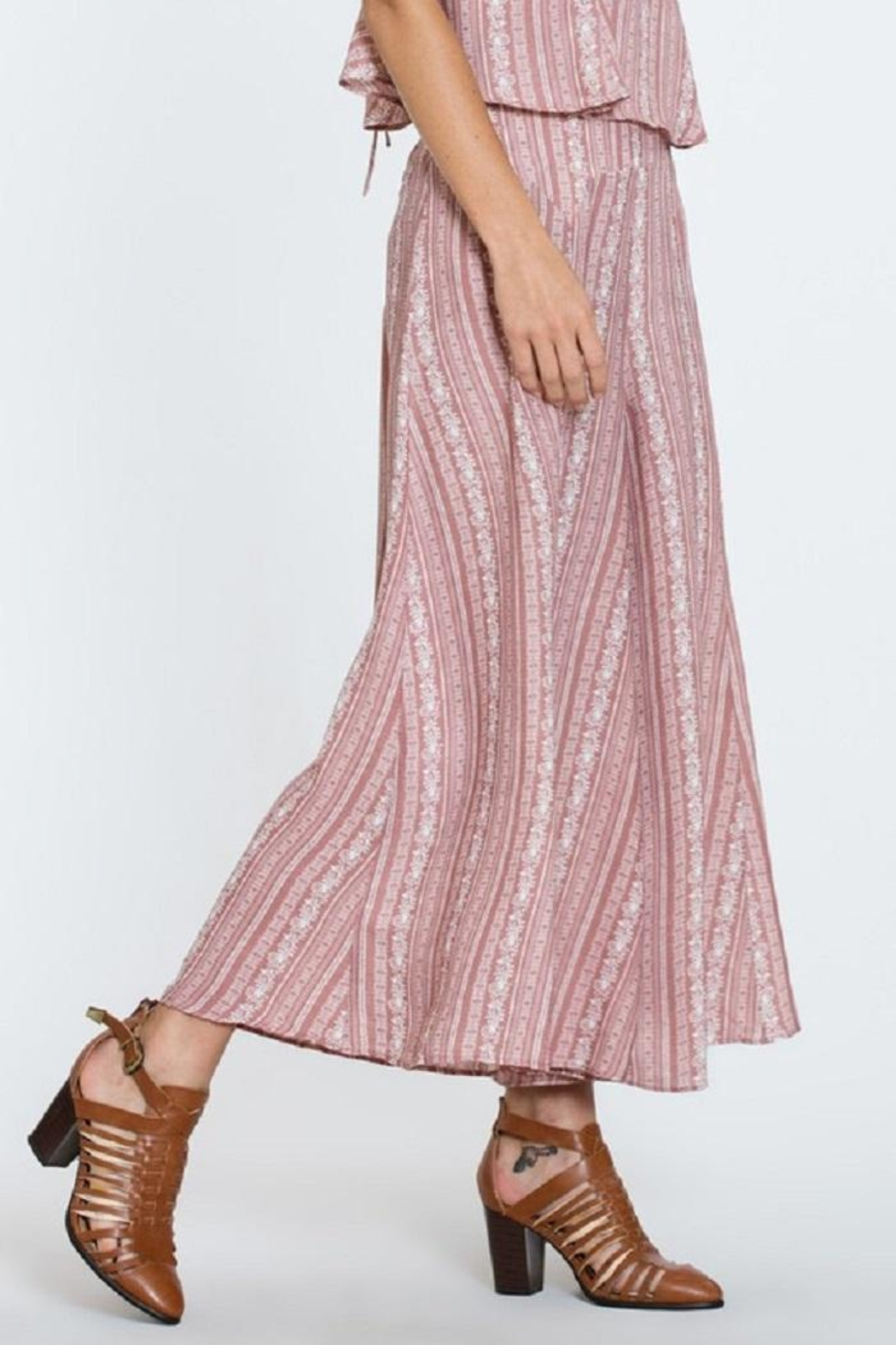 En Creme Wide Leg Pants - Main Image