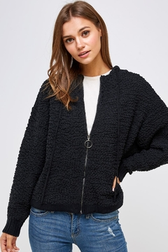Shoptiques Product: Zip-Up Sherpa Hoodie
