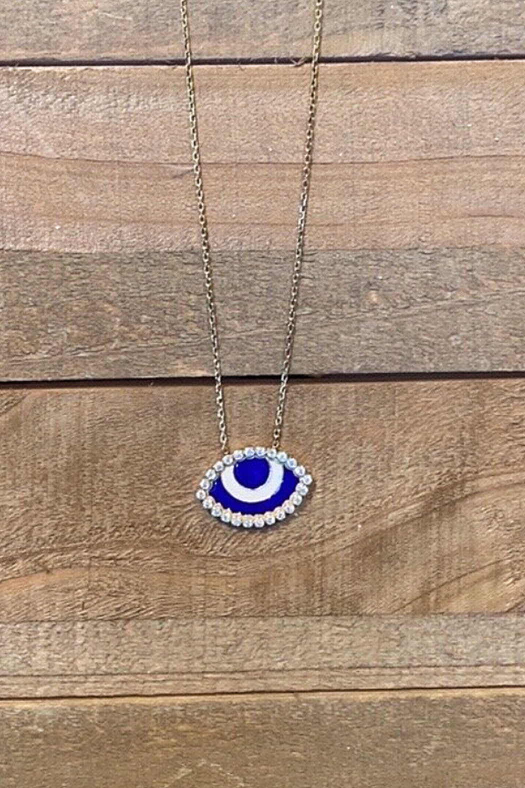 Allie & Chica Enamel Evil Eye Necklace - Main Image