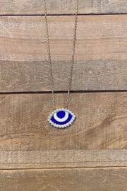 Allie & Chica Enamel Evil Eye Necklace - Front cropped