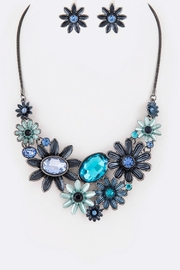 Nadya's Closet Enamel Flower Statement-Necklace-Set - Product Mini Image