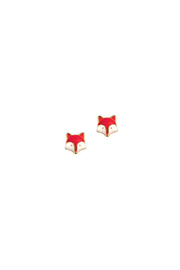 Girl Nation  Enamel Fox Stud Earrings - Product Mini Image