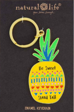 Natural Life Enamel Keychain Be Sweet Stand Tall - Alternate List Image