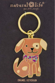 Natural Life Enamel Keychain Dog - Product Mini Image