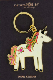 Natural Life Enamel Keychain Unicorn - Product Mini Image