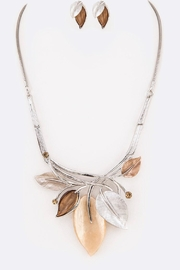Nadya's Closet Enamel Leaf Necklace - Product Mini Image