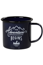 Wild & Wolf Enamel Mug The Adventure Begins - Front cropped
