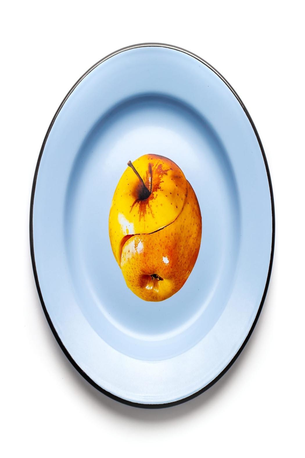 Seletti Enamel Plate Apple - Front Cropped Image