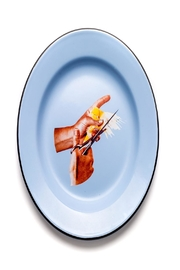 Seletti Enamel Plate Bird - Product Mini Image