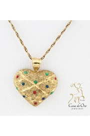 CDO  Enameled Heart Pendant - Product Mini Image