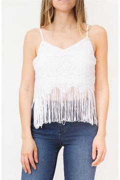 Shoptiques Product: Lace Fringed Top