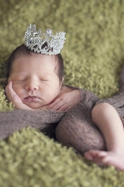 ENCHANTED SHIMMER DESIGNS Baby Crown - Front full body