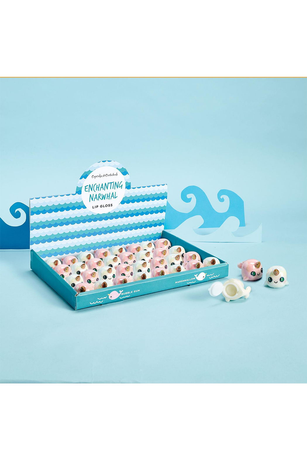 Cupcakes and Cartwheels Enchanting Narwhal Lipgloss - Front Cropped Image