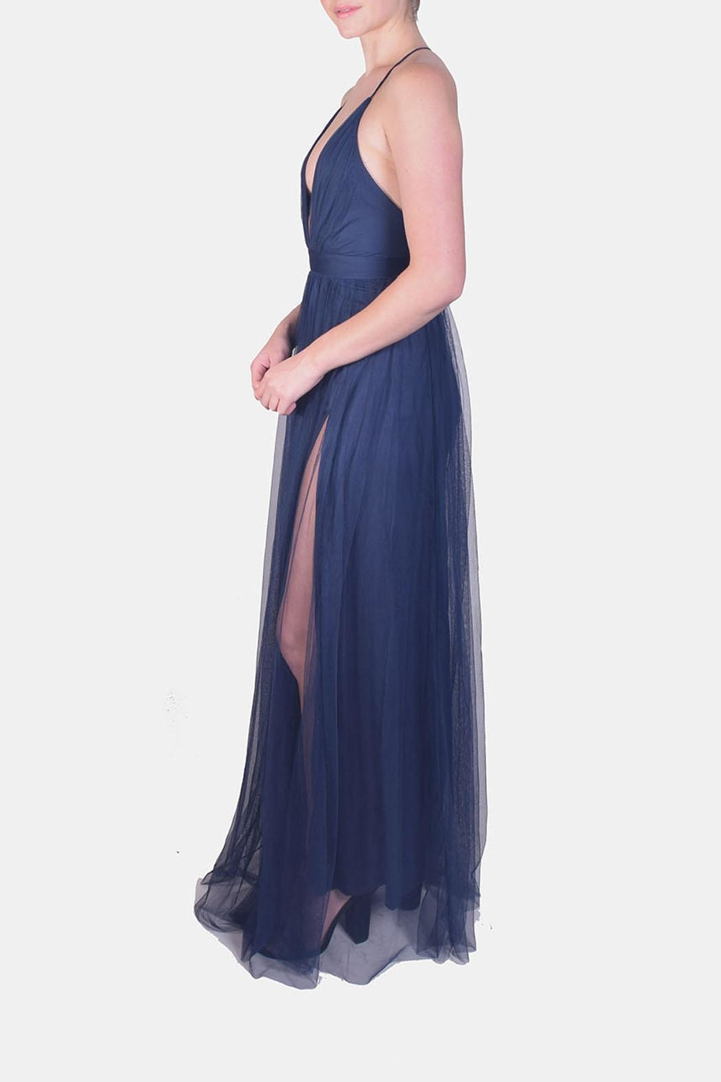 luxxel Enchantress Gown Navy - Front Full Image