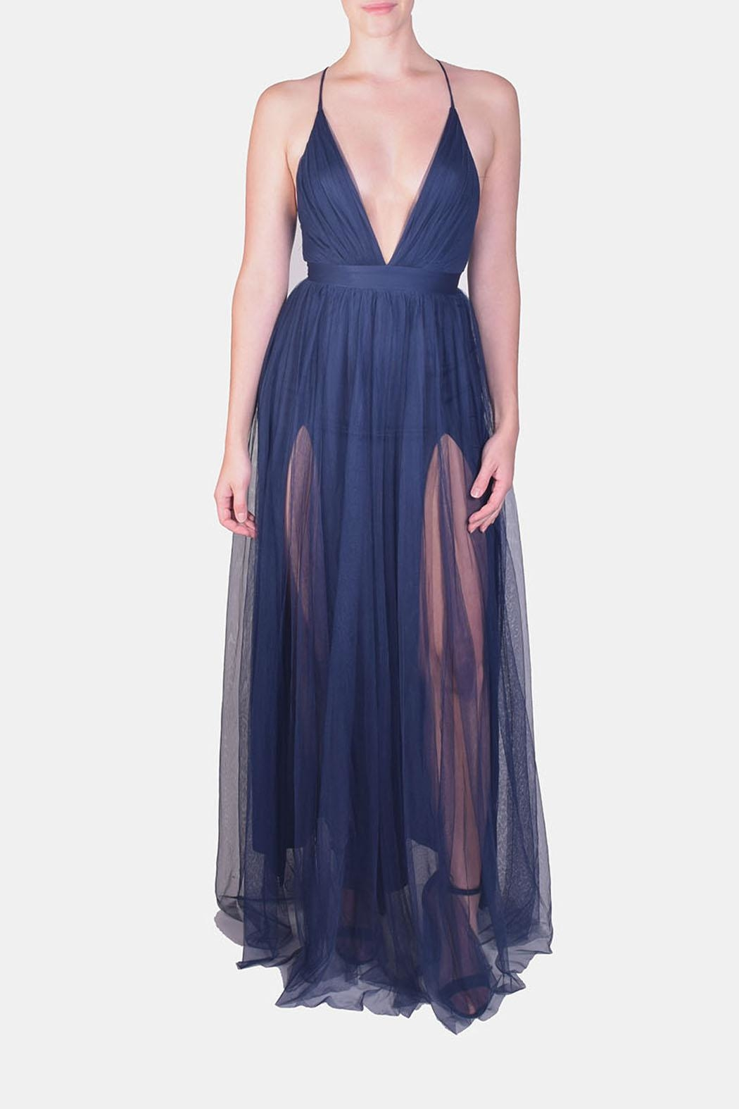 luxxel Enchantress Gown Navy - Main Image