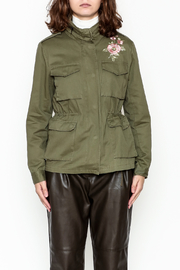 encreme Floral Embroidery Jacket - Front full body