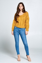 encreme Mustard Knit Crop - Product Mini Image