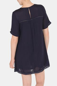 Shoptiques Product: Navy Embroidered Dress