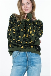 encreme Olive Leopard Sweater - Product Mini Image