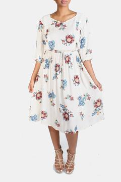 encreme Vintage Inspired Print Dress - Product List Image