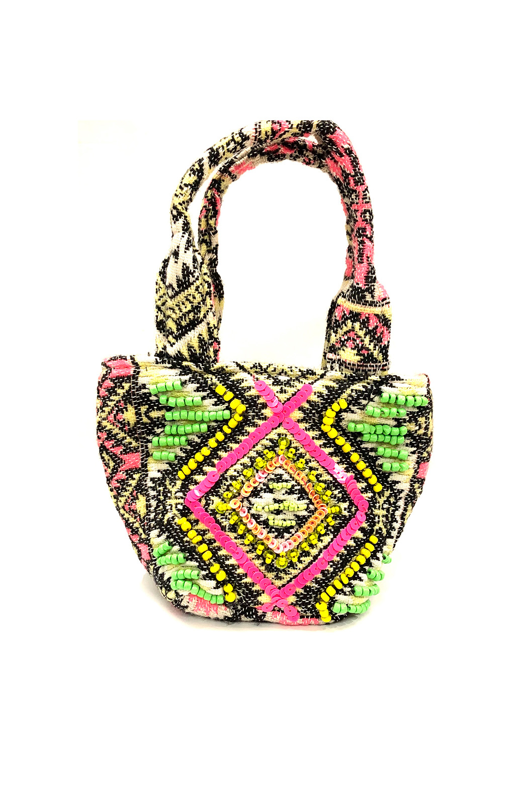 America and Beyond Endive Aztec Embellished Mini Tote - Main Image