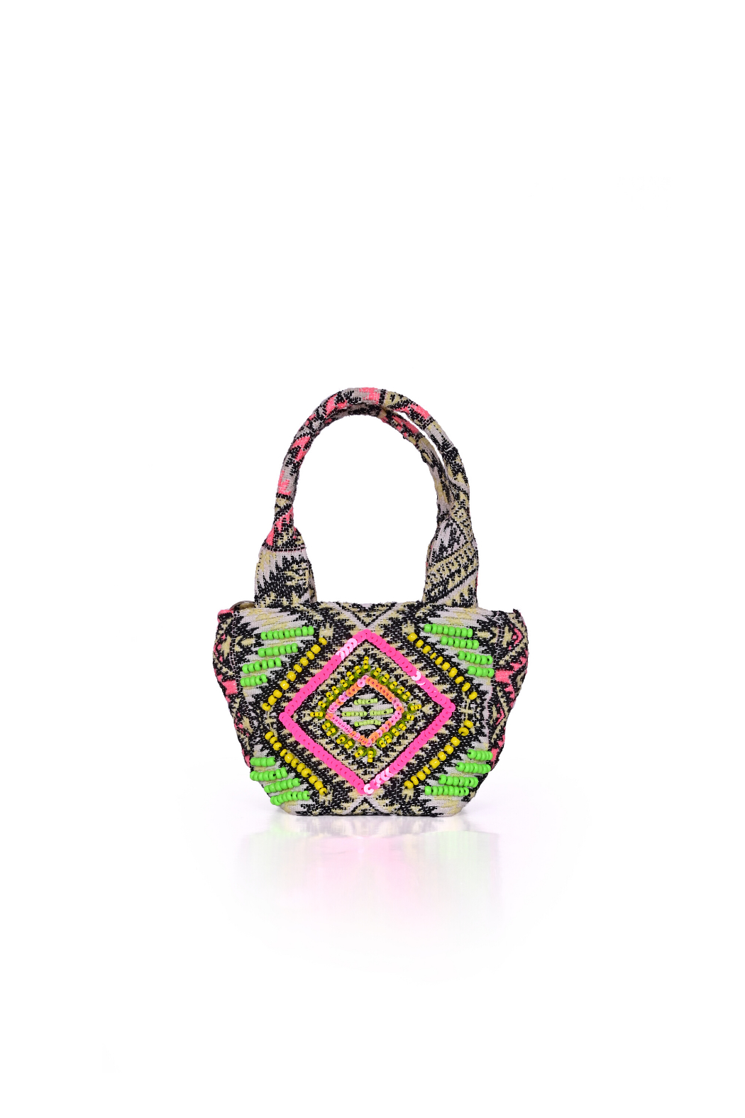 America and Beyond Endive Aztec Embellished Mini Tote - Front Full Image