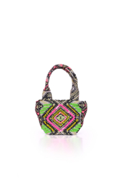 America and Beyond Endive Aztec Embellished Mini Tote - Front full body