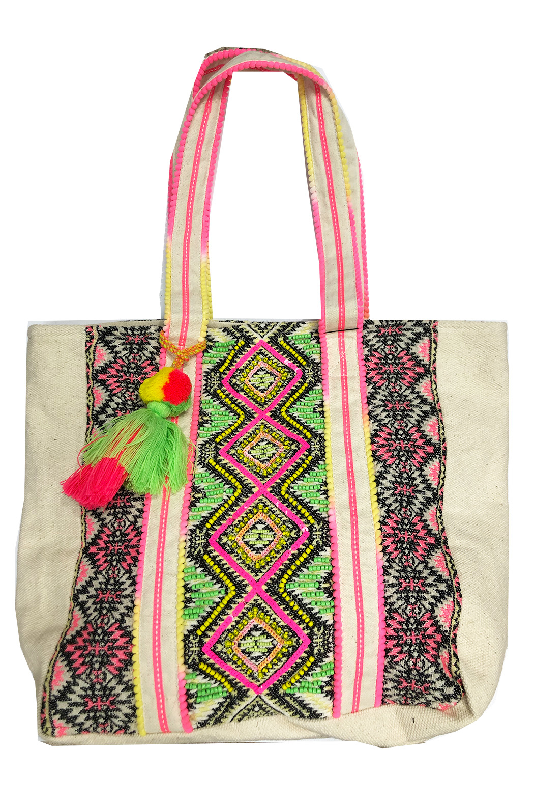 America and Beyond Endive Aztec Embellished Tote - Main Image
