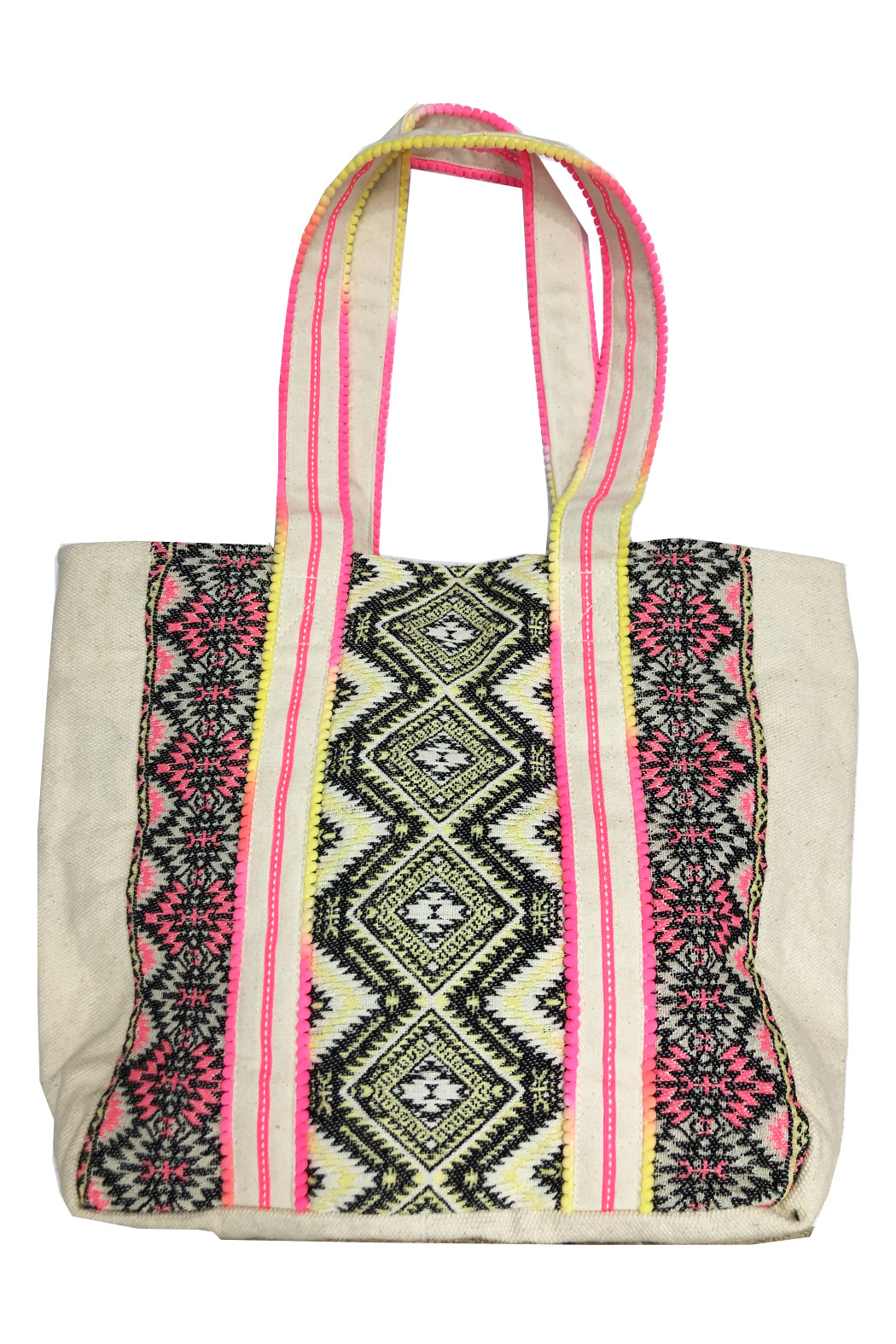 America and Beyond Endive Aztec Embellished Tote - Front Full Image