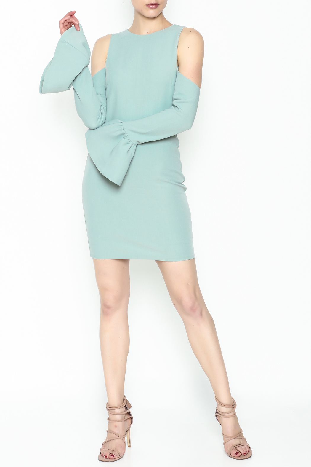 Endless Rose Bell Sleeve Dress - Side Cropped Image