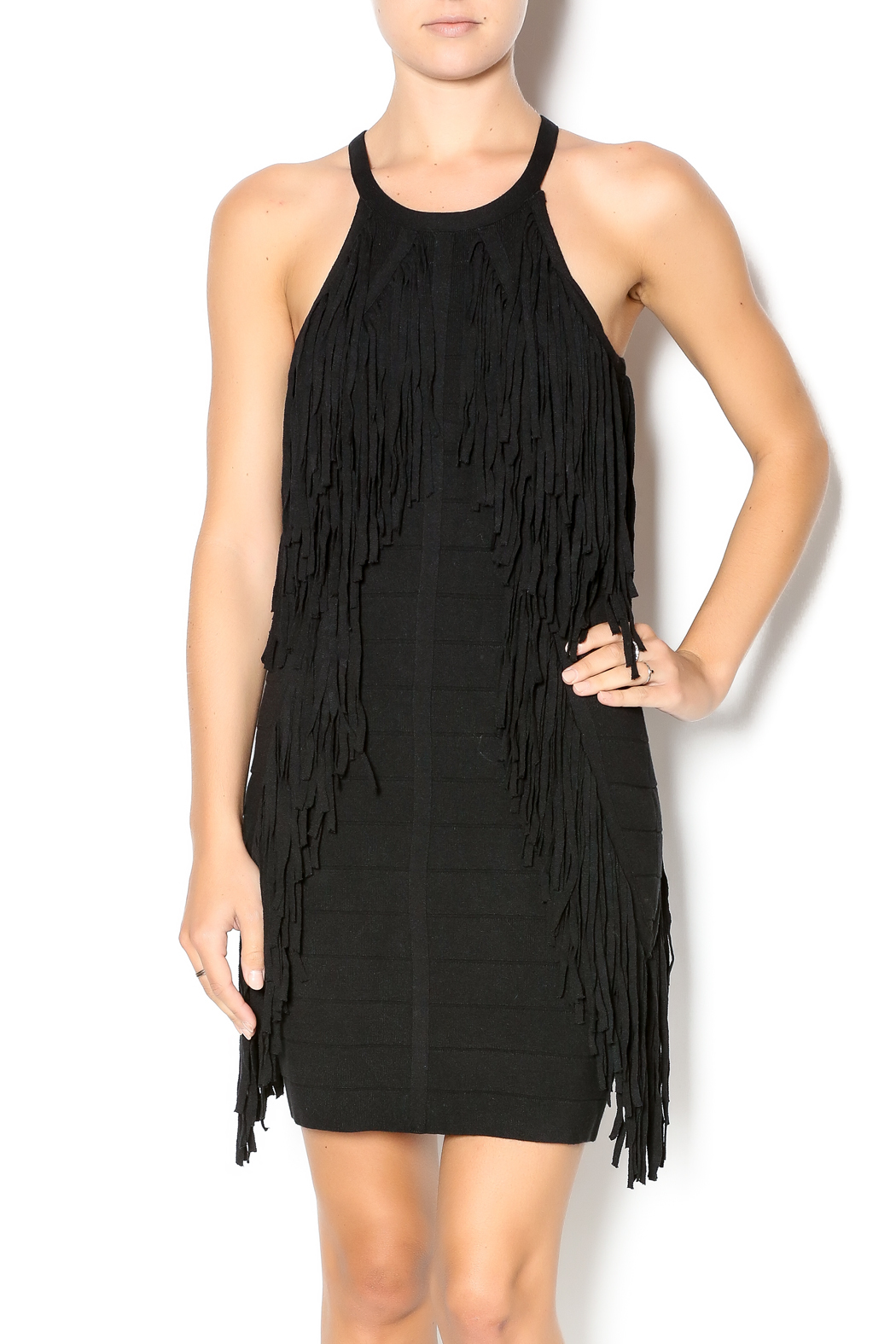 Endless Rose Black Fringe Dress from Texas by Le Marche' — Shoptiques