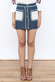 Endless Rose Button Down Denim Skirt - Side cropped