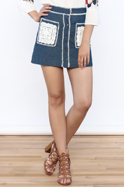 Endless Rose Button Down Denim Skirt - Product Mini Image