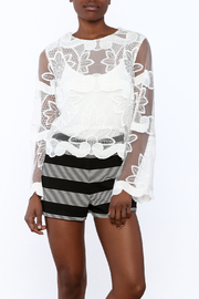 Shoptiques Product: Crochet Sheer Top