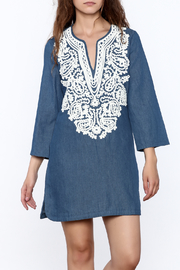 Endless Rose Denim Shift Dress - Product Mini Image