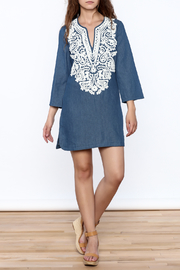 Endless Rose Denim Shift Dress - Front full body