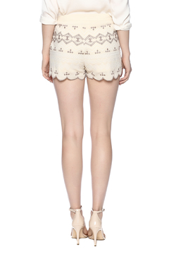Endless Rose Embroidered Scalloped Shorts - Alternate List Image