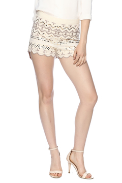 Shoptiques Product: Embroidered Scalloped Shorts