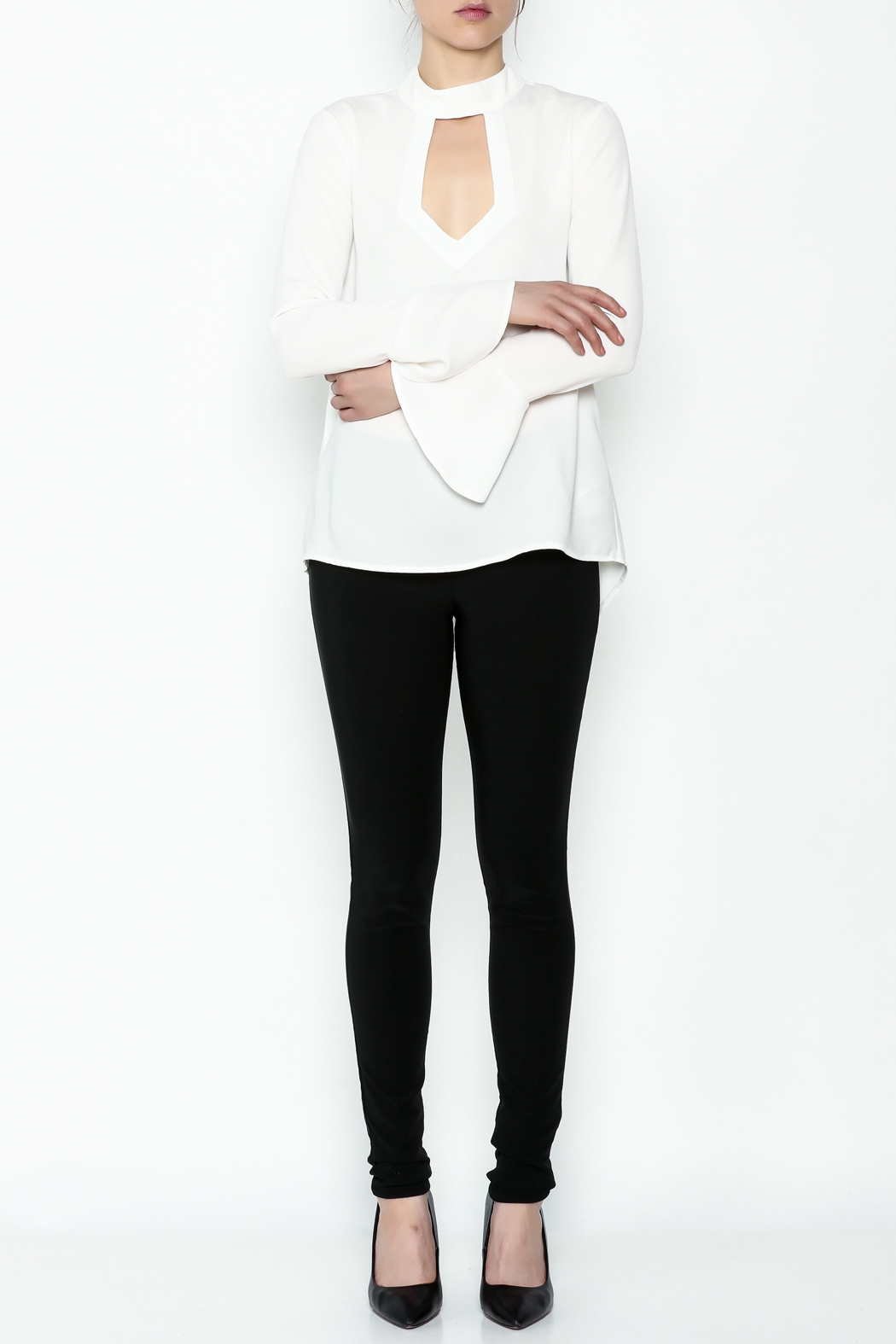 Endless Rose Front Long Sleeve Top - Side Cropped Image